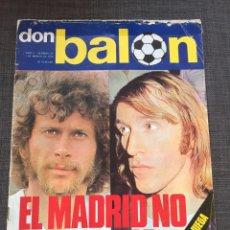 Coleccionismo deportivo: DON BALON 22 - REAL MADRID - CRUYFF- PÓSTER QUINITO - QUINI - LEIVINHA. Lote 135509310