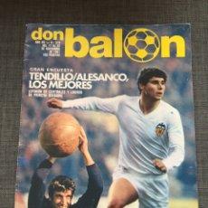 Coleccionismo deportivo: DON BALÓN 319 - TENDILLO - PICHI ALONSO - ARSENIO IGLESIAS. Lote 135509639