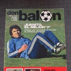 Coleccionismo deportivo: DON BALÓN 321 - JUANITO - STIELIKE - SCHUSTER - SEÑOR. Lote 135509921