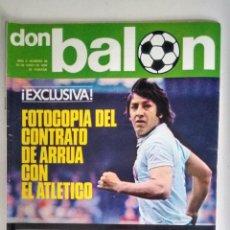 Coleccionismo deportivo: DON BALON CONTRATO DE ARRUA CON EL ATLETICO. Lote 135634007