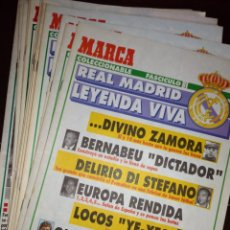 Coleccionismo deportivo: 15 FASCICULOS COLECCIONABLES REAL MADRID LEYENDAS VIVAS. Lote 135690901