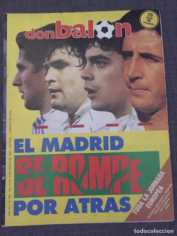 DON BALÓN 595 - COPAS EUROPEAS - REAL MADRID - MICHEL - LUIS DEL SOL - (Coleccionismo Deportivo - Revistas y Periódicos - Don Balón)