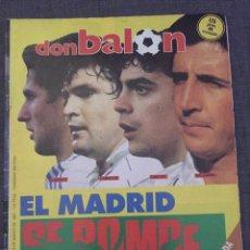 Coleccionismo deportivo: DON BALÓN 595 - COPAS EUROPEAS - REAL MADRID - MICHEL - LUIS DEL SOL -. Lote 135711283