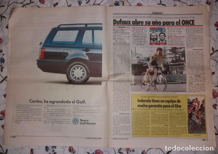 Coleccionismo deportivo: Periódico Marca. F.C. Barcelona campeón liga 1993-94. Póker, penalty Djukic - Foto 3 - 135733739
