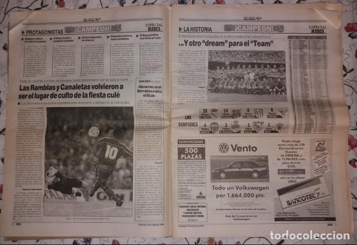 Coleccionismo deportivo: Periódico Marca. F.C. Barcelona campeón liga 1993-94. Póker, penalty Djukic - Foto 2 - 135733739