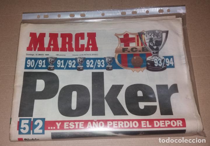Coleccionismo deportivo: Periódico Marca. F.C. Barcelona campeón liga 1993-94. Póker, penalty Djukic - Foto 6 - 135733739