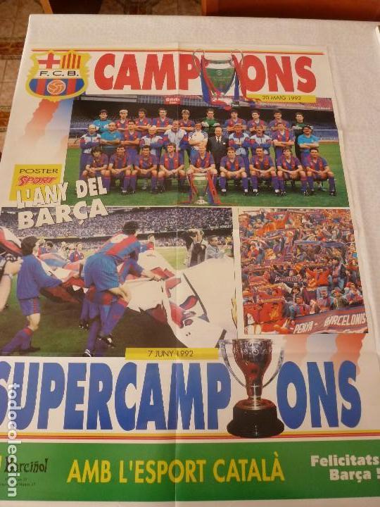 (ABJ)SUPERPOSTER(80X60)F.C.BARCELONA CAMPEÓN COPA DE EUROPA 1992 WEMBLEY-BARÇA (Coleccionismo Deportivo - Revistas y Periódicos - Sport)