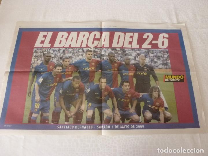 (ABJ)POSTER(57X36)EL BARÇA DEL 2-6 EN EL BERNABEU(2-5-2009)R.MADRID 2 F.C.BARCELONA 6 (Coleccionismo Deportivo - Revistas y Periódicos - Mundo Deportivo)