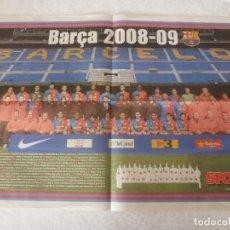 Coleccionismo deportivo: (ABJ)POSTER(57X39)F.C.BARCELONA TEMPORADA 2008-09-BARÇA. Lote 135764798