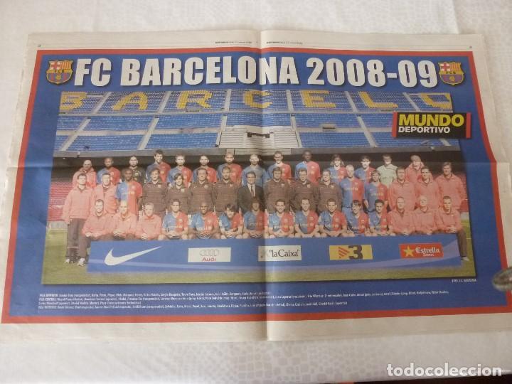 (ABJ)POSTER(57X36)F.C.BARCELONA TEMPORADA 2008-09 BARÇA (Coleccionismo Deportivo - Revistas y Periódicos - Mundo Deportivo)