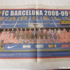 Coleccionismo deportivo: (ABJ)POSTER(57X36)F.C.BARCELONA TEMPORADA 2008-09 BARÇA. Lote 135765330