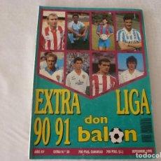 Coleccionismo deportivo: (ABJ)DON BALON(9-90)-EXTRA LIGA 90-91. Lote 135786162