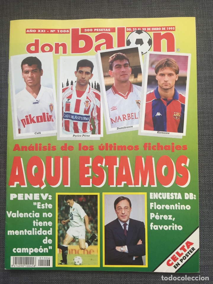 DON BALÓN 1006 - PÓSTER CELTA VIGO - LE TISSIER - SELECCIÓN ESPAÑOLA - PENEV (Coleccionismo Deportivo - Revistas y Periódicos - Don Balón)