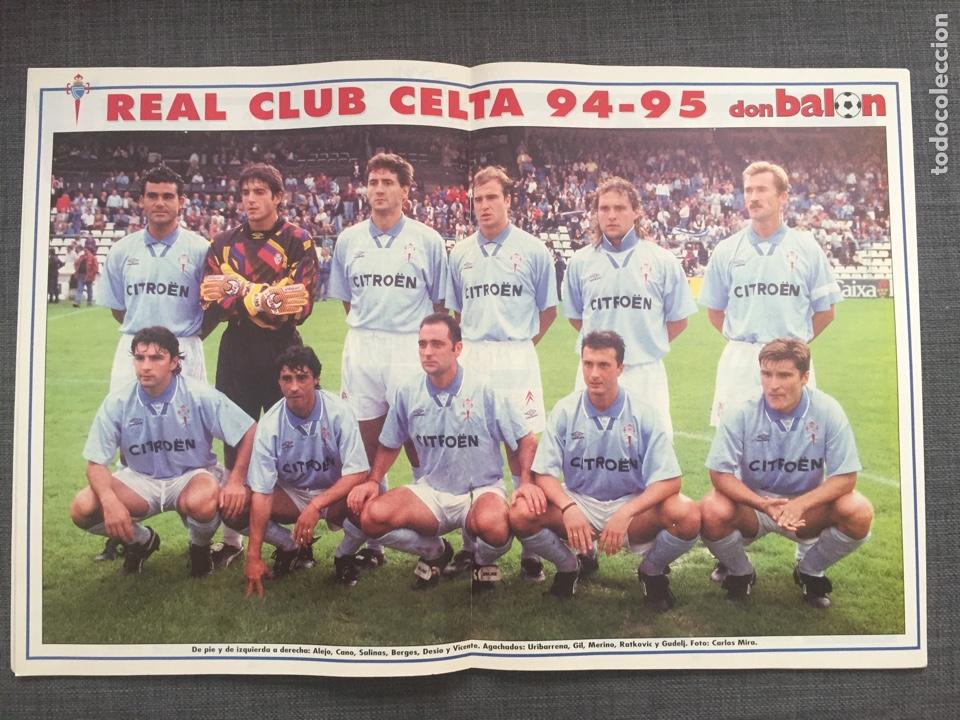 Coleccionismo deportivo: Don balón 1006 - póster Celta Vigo - Le Tissier - Selección española - Penev - Foto 2 - 135796143