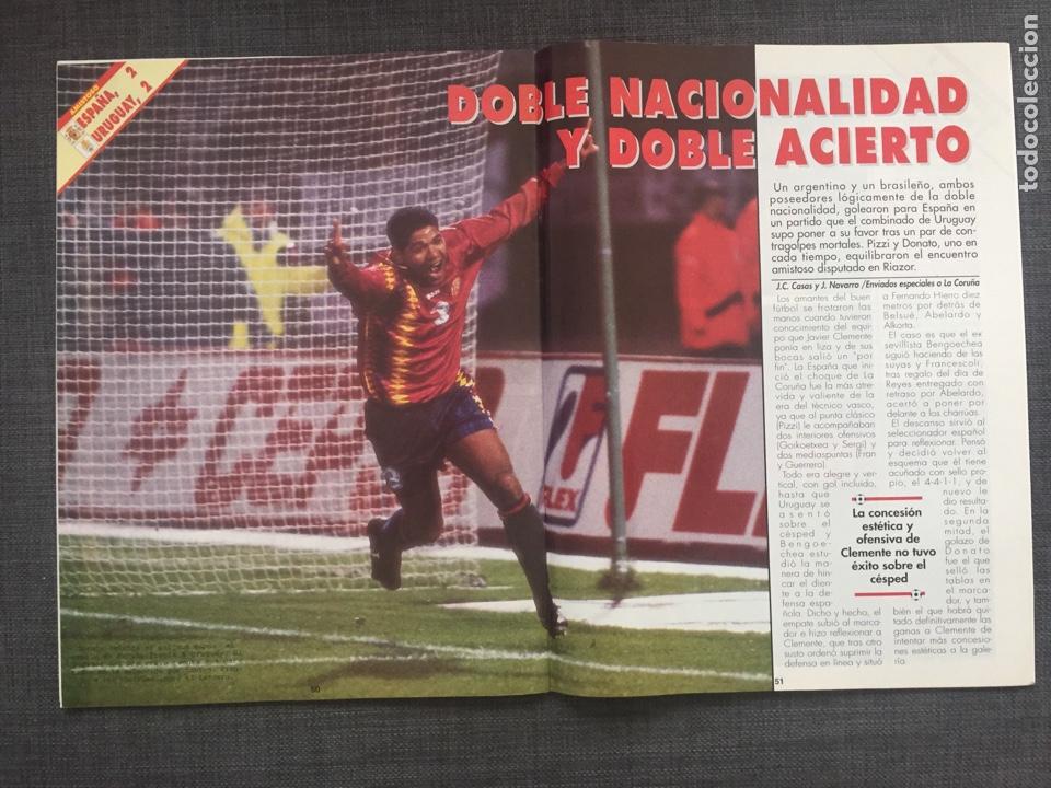 Coleccionismo deportivo: Don balón 1006 - póster Celta Vigo - Le Tissier - Selección española - Penev - Foto 3 - 135796143