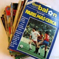Coleccionismo deportivo: DON BALÓN. LOTE DE 28 REVISTAS 1981 A 1983 VER FOTOGRAFÍAS. Lote 135803974