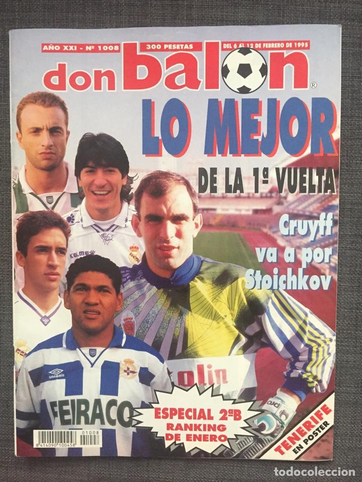 DON BALÓN 1008 - PÓSTER TENERIFE - REAL MADRID - ALFONSO - DUMITRSCU SEVILLA - CRUYFF - OSASUNA (Coleccionismo Deportivo - Revistas y Periódicos - Don Balón)