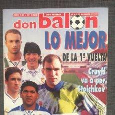 Coleccionismo deportivo: DON BALÓN 1008 - PÓSTER TENERIFE - REAL MADRID - ALFONSO - DUMITRSCU SEVILLA - CRUYFF - OSASUNA. Lote 135816081