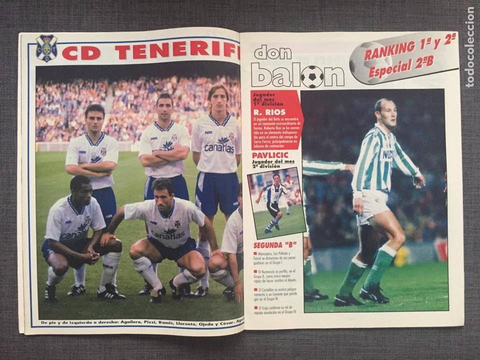Coleccionismo deportivo: Don balón 1008 - póster Tenerife - Real Madrid - Alfonso - Dumitrscu Sevilla - Cruyff - Osasuna - Foto 3 - 135816081