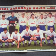 Coleccionismo deportivo: DON BALÓN 1013 - PÓSTER ZARAGOZA - MIJATOVIC - SPORTING - PALAMÓS - WEAH. Lote 135928254