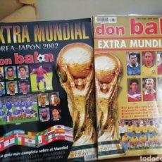 Coleccionismo deportivo: DON BALON EXTRA MUNDIAL 98 Y 2002. Lote 136031866