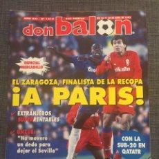 Coleccionismo deportivo: DON BALÓN 1019 - ZARAGOZA, FINALISTA RECOPA - PÓSTER REAL SOCIEDAD - UNZUÉ - PERUZZI - MUNDIAL S'20. Lote 175212899