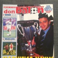 Coleccionismo deportivo: DON BALÓN 1022 - ZARAGOZA CAMPEÓN RECOPA REPORTAJE Y PÓSTER - FINAL CHAMPIONS MILÁN Y AJAX. Lote 136092528