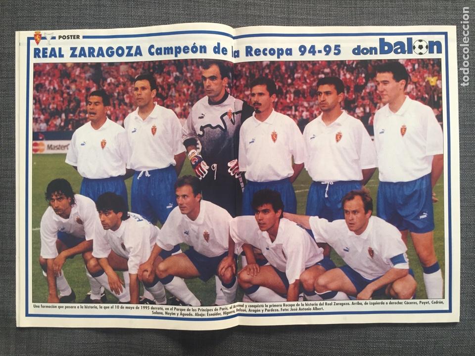 Coleccionismo deportivo: Don balón 1022 - Zaragoza campeón Recopa reportaje y póster - final champions Milán y Ajax - Foto 3 - 136092528