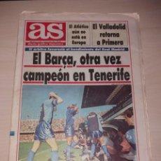 Coleccionismo deportivo: ANTIGUO PERIÓDICO AS - CD TENERIFE EN SU ÉPOCA UEFA. Lote 136122862