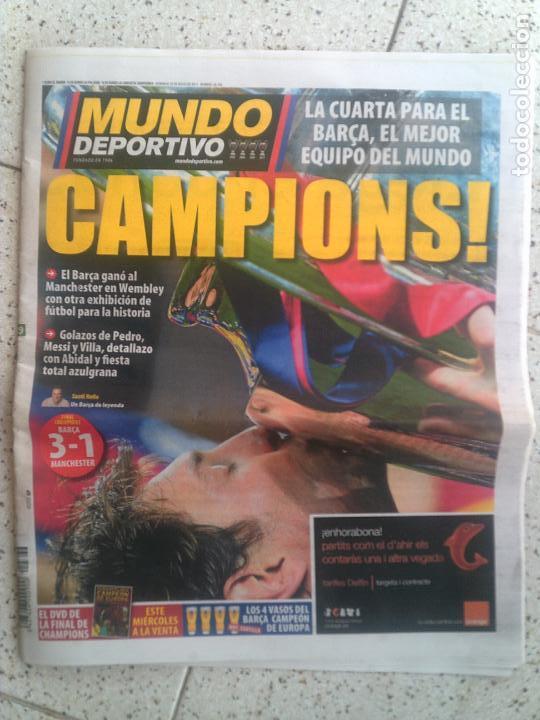 DIARIO MUNDO DEPORTIVO CAMPIONS DE MAYO DE 2011 (Coleccionismo Deportivo - Revistas y Periódicos - Mundo Deportivo)