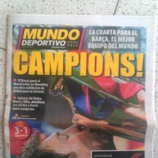 Coleccionismo deportivo: DIARIO MUNDO DEPORTIVO CAMPIONS DE MAYO DE 2011. Lote 136130054