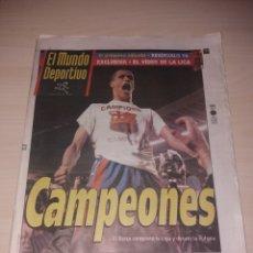 Coleccionismo deportivo: ANTIGUO PERIÓDICO EL MUNDO DEPORTIVO - FC BARCELONA - CAMPEONES DE LIGA 1998. Lote 136157353