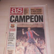 Coleccionismo deportivo: ANTIGUO PERIÓDICO AS - FC BARCELONA - CAMPEÓN LIGA 1994. Lote 136157854