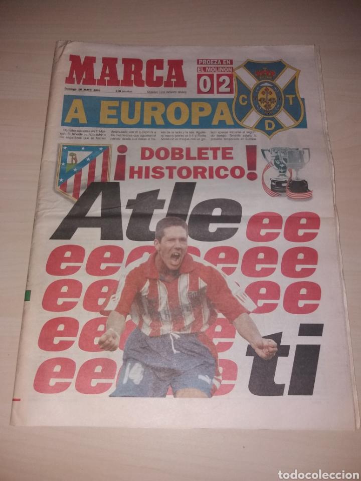 ANTIGUO PERIÓDICO MARCA - 1996 - ATLÉTICO DE MADRID - DOBLETE HISTÓRICO (Coleccionismo Deportivo - Revistas y Periódicos - Marca)