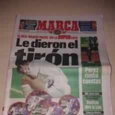 Coleccionismo deportivo: ANTIGUO PERIÓDICO MARCA - 1998 - REAL MADRID - SUPER COPA. Lote 136158972