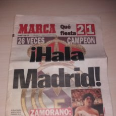 Coleccionismo deportivo: ANTIGUO PERIÓDICO MARCA - 1995 - REAL MADRID CAMPEÓN LIGA. Lote 136161877