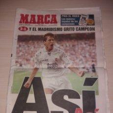Coleccionismo deportivo: ANTIGUO PERIÓDICO MARCA - 1997 - REAL MADRID CAMPEÓN LIGA. Lote 136162354