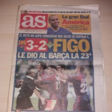 Coleccionismo deportivo: ANTIGUO PERIÓDICO AS - 1997 - FC BARCELONA CAMPEÓN LIGA. Lote 136162478