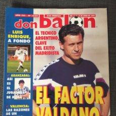 Coleccionismo deportivo: DON BALÓN 1026 - PÓSTER RAYO - REAL MADRID - LUIS ENRIQUE - ARANZABAL - VALENCIA - HEYSEL - ESPAÑA. Lote 136170233