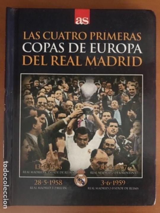DVD LIBRO FUTBOL REAL MADRID LAS CUATRO PRIMERAS COPAS DE EUROPA (Coleccionismo Deportivo - Revistas y Periódicos - As)