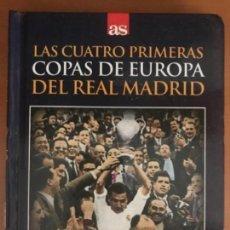 Coleccionismo deportivo: DVD LIBRO FUTBOL REAL MADRID LAS CUATRO PRIMERAS COPAS DE EUROPA. Lote 136173078