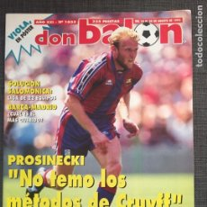Coleccionismo deportivo: DON BALÓN 1035 - PÓSTER VIOLA - ANTIC - PROSINECKI - MARADONA BOCA JUNIORS. Lote 136175468