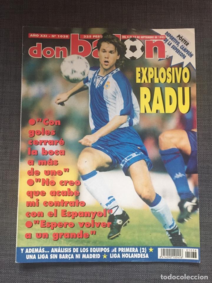 Coleccionismo deportivo: Don balón 1038 - Póster Deportivo campeón Supercopa - Raducioiu - Foto 3 - 136201006