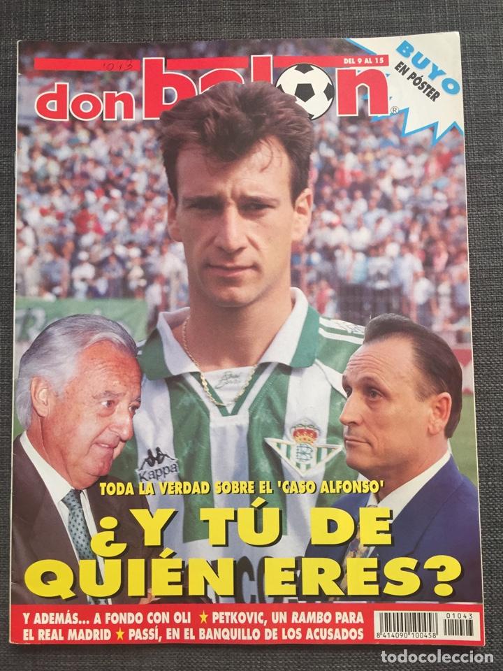 DON BALÓN 1043 - BETIS - PÓSTER BUYO - OLI OVIEDO - RAMBO PETKOVIC - N'KONO - AS MARCA SPORT ALBUM (Coleccionismo Deportivo - Revistas y Periódicos - Don Balón)