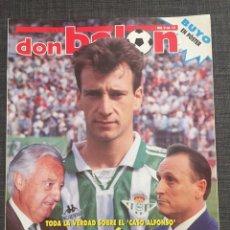 Coleccionismo deportivo: DON BALÓN 1043 - BETIS - PÓSTER BUYO - OLI OVIEDO - RAMBO PETKOVIC - N'KONO. Lote 136248358