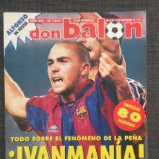 Coleccionismo deportivo: DON BALÓN 1047 - PÓSTER ALFONSO BETIS - IVAN DE LA PEÑA - SUKER SEVILLA - PUSKAS - COPAS EUROPEAS. Lote 136249989