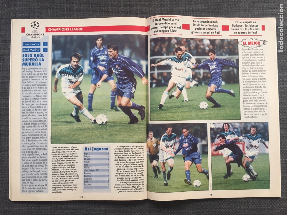 Coleccionismo deportivo: Don balón 1047 - Póster Alfonso Betis - Ivan De la Peña - Suker Sevilla - Puskas - Copas Europeas - Foto 7 - 136249989