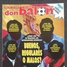 Coleccionismo deportivo: DON BALÓN 1048 - GUILHERME RAYO - DERBY REAL MADRID VS ATLÉTICO - ZARAGOZA - ELBER - WEAH - ZIGANDA. Lote 136251345