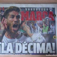 Coleccionismo deportivo: PERIODICO MARCA NUEVO REAL MADRID CAMPEON CHAMPIONS LEAGUE TEMPORADA 2013 2014 13 14 LA DECIMA. Lote 136265482