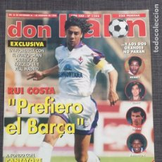 Coleccionismo deportivo: DON BALÓN 1102 - PÓSTER TENERIFE - RUI COSTA - HENRY - BAKERO - C. EUROPEAS - CARLOS - STUTTGART. Lote 136274738